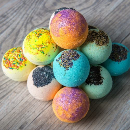 assorted bath bombs